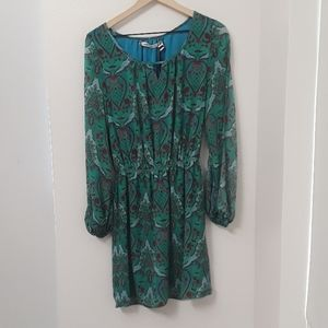 NEW Chelsea and Violet Boho Green Dress-Size Large